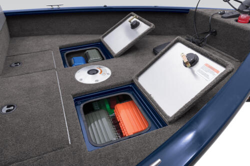 2 bow storage compartments