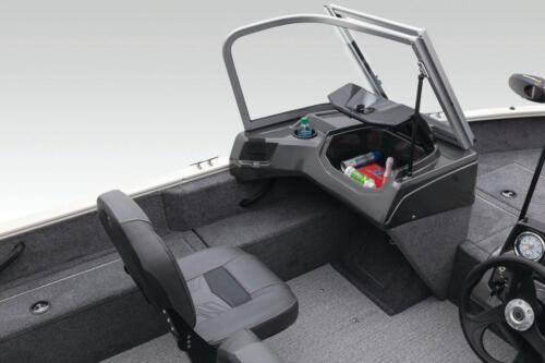 Passenger console with glovebox & built-in drink holder